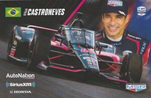 2021 Helio Castroneves AutoNation Honda Indy 500 Indy Car Hero Card