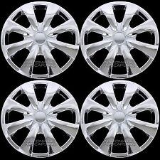 "4 Chrome 2003-2016 Toyota Corolla 15"" Full Wheel Covers Shiny Rim Hub Caps R15"