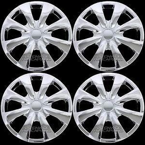 "4 Chrome 2003-2016 Toyota Corolla 15"" Full Wheel Covers Rim Hub Caps R15 Tires"