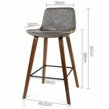 Artiss Faux Leather Bar Stools, Walnut - 2 Count