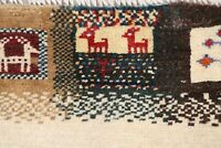 Geometric Gabbe Zollanvari Oriental Area Rug Wool Hand-Knotted Ivory Carpet 3x5