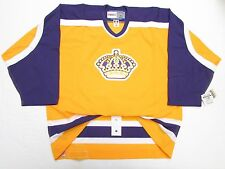 LOS ANGELES KINGS AUTHENTIC VINTAGE GOLD CCM 6100 HOCKEY JERSEY SIZE 52