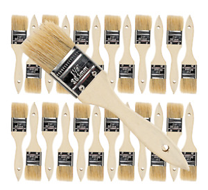 24 Pk- 1.5 inch Chip Paint Brushes for Paint, Stains,Varnishes,Glues,Gesso