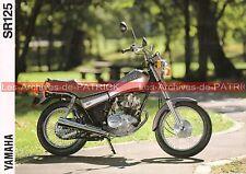 YAMAHA SR 125 - 1990-1991 : Brochure - Dépliant - Moto                    #0532#