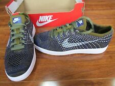 NEW NIKE Tennis Classic Ultra Flyknit Shoes WOMENS 8 Blue Olive 833860 301 $150