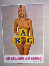 THE ABC OF LOVE AND SEX (1978/AUSTRALIA) ORIGINAL YUGOSLAVIAN MOVIE POSTER
