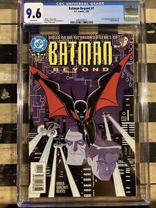 BATMAN BEYOND #1 DC 1999 1ST COMIC APPEARANCE TERRY McGINNIS 1ST PRINT CGC 9.6!