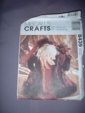 """MCCALLS PATTERN 8439 ~ 15"""" FATHER CHRISTMAS HEIRLOOM DOLLS (2 STYLES) ~ NEW"""