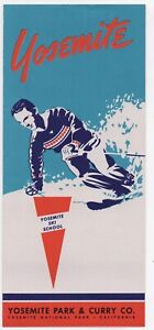 1948 Yosemite Park & Curry Company Brochure with Skiing Cover