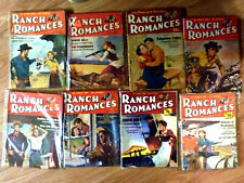 lot of 8 ranch romances vintage magazine, Pulp ,Western