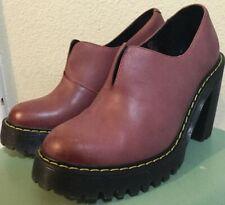 "Woman's Doc Dr. Martens ""Cordelia"" Air Wear Leather Heels Shoes  Sz B"