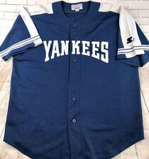 Vintage Starter New York Yankees Navy Baseball Jersey Shirt Xl Mlb Authentic
