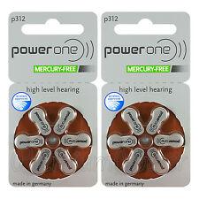 Power One 312 Size Hearing aid batteries Zinc air Mercury free Varta x 60 cells