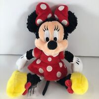 Minnie Mouse Plush Disneyland Disney World Parks Red Polka Dot Dress Stuffed 11""
