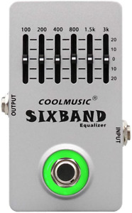 Coolmusic C-EQ01 Equalizer Pedal Guitar Pedal Effects Bass Pedal Acostic Guitar