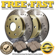 C0344 FIT 1995 1996 1997 1998 1999 Chevy Tahoe 4WD Drilled Brake Rotors Pads F