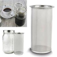 Reusable Cold Brew Coffee Maker Iced Tea Infuser Stainless Steel Filter D2