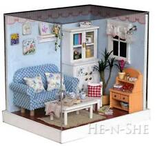 DIY Wooden Dollhouse Miniature with Light Home Decor & Furniture F005