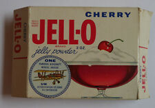 1960's JELL-O Famous Aircraft Original unopened Pack Cherry With Coin inside