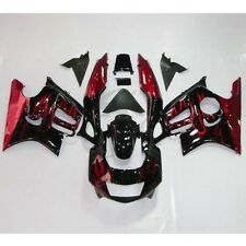 Red Flames Injection ABS Fairing Bodywork For Honda CBR600F3 CBR600 F3 97-98 5A