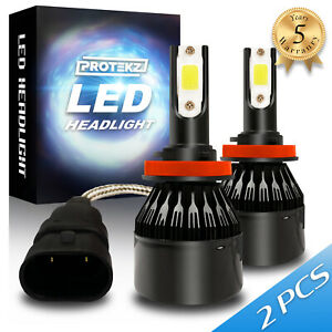 Protekz LED Headlight Kit 2 Bulbs High Beam 9005 6000K for Jeep Compass 2019 -20