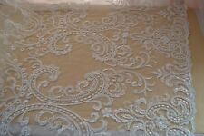 KN13 bridal/wedding dress beaded lace fabric sold by 1 yard
