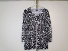 East 5th  (n) womans sweater    white/black   size XL