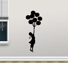 Balloon Girl Wall Decal Banksy Vinyl Sticker Kids Nursery Decor Art Mural 253hor