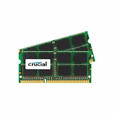 Crucial para Mac de Apple 16GB 2x8gb doble canal Ddr3l 1600mhz Pc3-12800 Sodimm