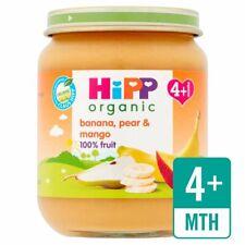 HiPP Organic Banana Pear and Mango Baby Food Jar 4+ Months 125g
