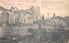 REMENOVILLE NACH DER SCHLACHT FRANCE RUINS WW1 MILITARY FELDPOST POSTCARD 1915