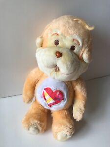 "Care Bear Playful Heart Monkey Vintage Plush 13"""