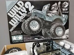"""Tamiya 1/10 R/C Wild Willy 2 WR-02 Metallic Special Limited Rare """"Partial Built"""""""