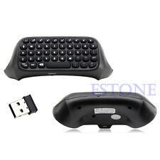 Mini USB Wireless Chatpad Message Keyboard for Xbox One Controller 2.4G Black
