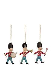 Maileg-danés Árbol De Navidad Decoración - 3 soldados de metal en Un Matchbox