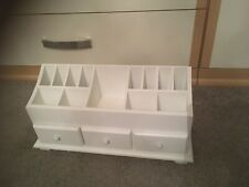 White Wooden Cosmetic/Makeup Organiser With Drawers