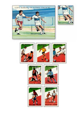 NIC89032 Football 8 stamps and block