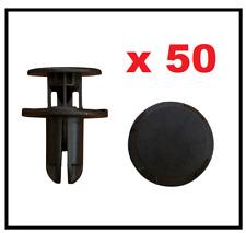 50 x HYUNDAI BLACK BUMPER FENDER COVER CLIP PUSH TYPE RETAINER