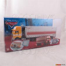 Disney Pixar Cars Paul Valdez #16 hauler semi truck and trailer - worn package