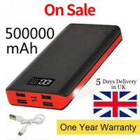 500000mAh 4USB Large Capacity Charging Portable Power Bank LED Battery Chargers