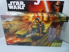 Star Wars Figure Set Rebels Ezra Speeder Hand Signed Taylor Gray Autograph BNIB