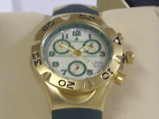 Chase-Durer Ladyhawke Vintage Rose Gold Chrono Green Band Mother Of Pearl Dial