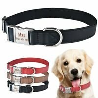Custom Dog Collar Heavy Duty Buckle Personalised ID Name Tag Nameplate Engraved