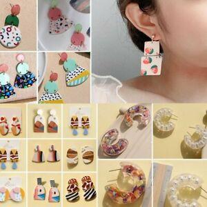 Fashion Acrylic Geometric Earrings Women Ear Stud Dangle Drop Jewellery Gifts