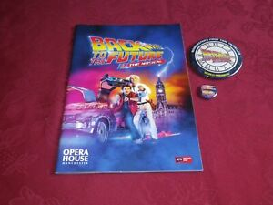 BACK TO THE FUTURE THE MUSICAL - PROGRAMME & 2 X PIN BADGES