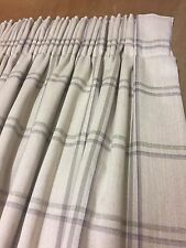 Laura Ashley Corby Check Interlined Curtains Hand Sewn Made To Measure All Cols