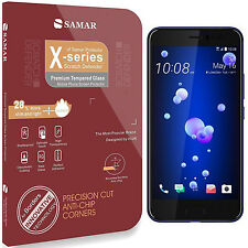SAMAR Premium Quality HTC U11 Tempered Glass Screen Protector Full Size Cover