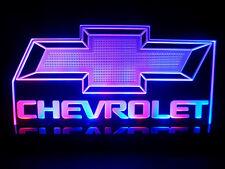 Chevrolet Logo LED Light Table lamp America Auto Car Man cave room Garage Signs