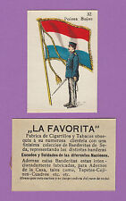 LA FAVORITA (CANARY ISLANDS) - SCARCE SILK FLAGS & SOLDIERS CARD - HOLLAND