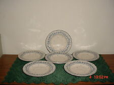 "6-PC TABLEMATES ""FLOWER GARDEN"" 6 1/8"" SAUCERS/BLUE ROSE/#761/MALAYIA/CLEARANCE!"